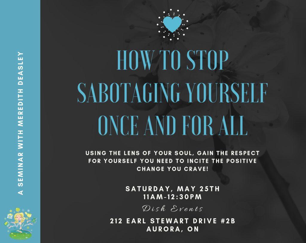 Stop Self Sabotaging