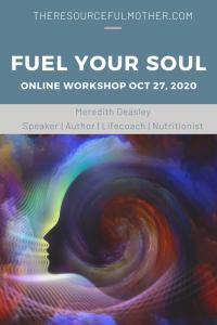 Promo poster for fuel your soul workshop.