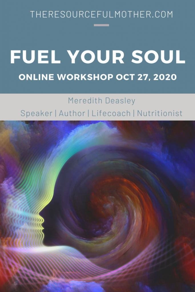 Promo poster for fuel your soul workshop.