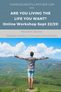 Promotional image for living the life you want workshop.